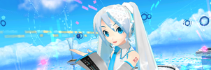 Project DIVA Wiki Forum Banner - Snow Miku Edition by olivaaa
