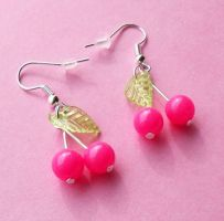 Sweet Cherry Earrings by AsianBunni