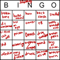 Dreamscape Injury Bingo by komatana
