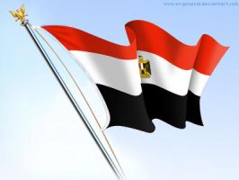 Flag egypt by el-general
