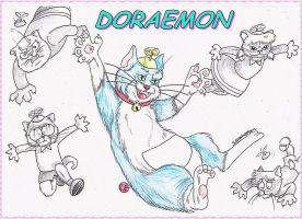 Doraemon Cat' by SarayPeke85