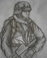 Modern Soldier Sketch by Pajaga