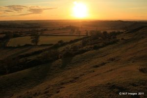 Burrough Hill Sunset 2 by MichaelJTopley