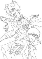 Okumura Brothers Line art by VKlover11
