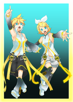 Kagamine Rin and Len: APPEND by takoballs