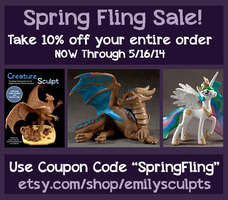Etsy Spring Fling Sale Through 5/16 by emilySculpts
