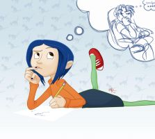 Contemplative Coraline by lord-phillock