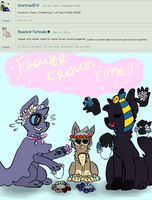 flower crown time!! by wintertails