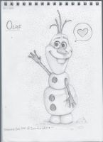 I'm Olaf and I like warm hugs! by Drawing-Heart