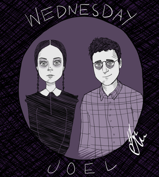 Adult Wednesday and Joel by doctorsnippet