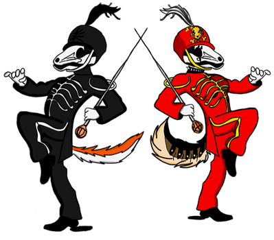 Welcome to the Black and Red parade Jack and Roxy by Justicewolf337