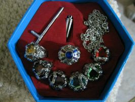 Vongola Rings in Box. by belphegorknives