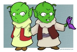 Little Namekians by Disdainful-Loni