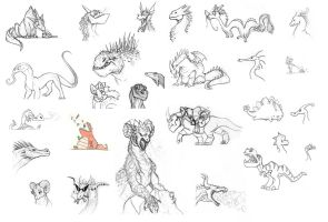 Dragons! Lots and Lots of Dragons by Frankyding90