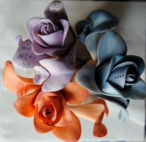 bouquet in resin by Umrae-Thara