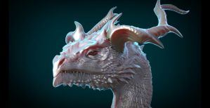 DragonBust sculpt by Skylarc88