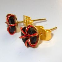 Steampunk Wire Electronic Toroid Stud Earring by Techcycle