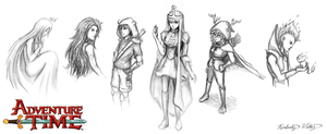 Adventure Time Sketches by cold-nostalgia