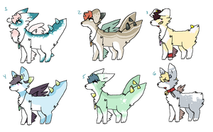Canine Dragon adopts batch 2 (lowered prices) by scarfqueen-666