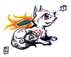 Okami Puppy by tiikay