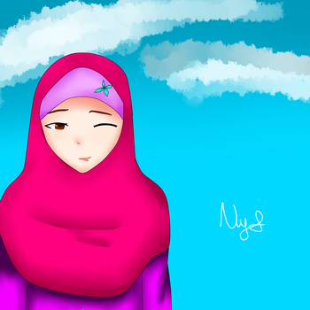 HIjab Girl by NinditaSiAger2