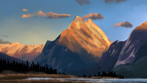 mountains speedpainting by Hennei