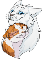 Cloudtail and Brightheart by Spirit-Of-Alaska