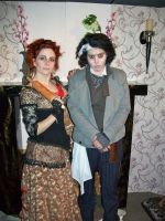 Sweeney Todd and Mrs Lovett Cosplay by CaptJackSparrow123