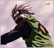 Kakashi Coloring By Alking-Luffy by Alking-Luffy