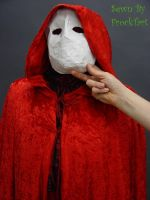Red death, mask and cape by FrockTarts