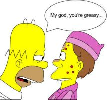 My god, you're greasy... by hrdeviantart