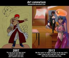 Art Comparison by jamjamstyle