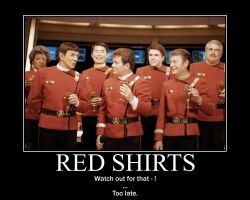 Red shirts by BowlerHatProductions