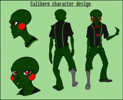 Homestuck Caliborn character design by LeijonNepeta