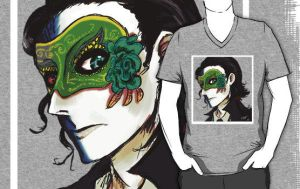 loki's masquerade t-shirt by nutburgers-official