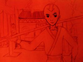 Unfinished Aang at Shaolin Temple by ILoveYamamotoSan