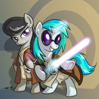 Vinyl and Octavia Jedi by bigfatal21