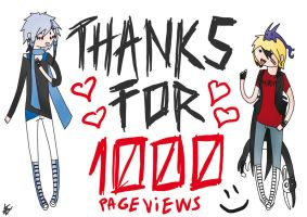 THX FOR 1000 PAGEVIEWS!!! by shinarei