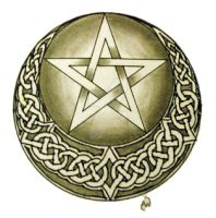 Horned moon Pentacle by IrishArtiste
