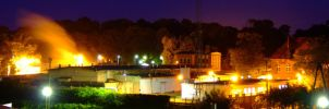 panoramic facility at night by plastic11