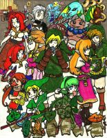 Zelda Musicians by Ashes-fall-down