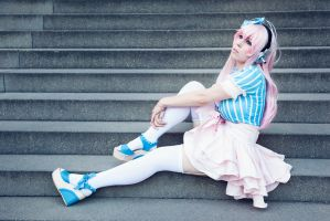Super Sonico - Sonipro Cosplay by K-I-M-I