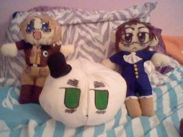 America, Austria and England mochi plushies i made by Misswd