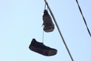 Suspended Shoe by mercurydrinker