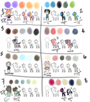 OPEN Palette Adopts - MLP PUP or HUMAN/OID by maniacalmarie16