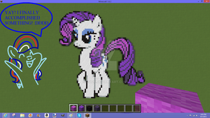 Minecraft~ Rarity Sprite by C0I0R