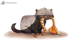 Daily Painting #962. Honey Badger Don't Care (OG) by Cryptid-Creations