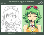 Gumi Before and after by SweetxSnowxDream