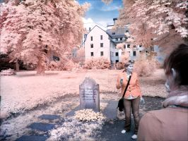 Grave of Moses Mendelssohn infrared by MichiLauke