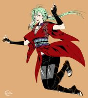 GoA - Crossdressing Kaze by Eeriah